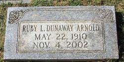 Ruby L <i>Dunaway</i> Arnold