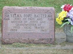 Velma M <i>Fore</i> Bauter