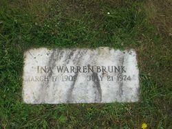 Ina <i>Warren</i> Brunk