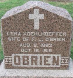Lena <i>Koehlhoeffer</i> O'Brien