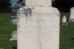 Rev Franklin Richard Main
