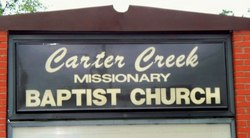 Carter Creek Missionary Baptist Church Cemetery