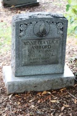 Minnie Ola <i>Veach</i> Ashford