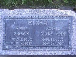 Mary Ann <i>Smith</i> Olsen