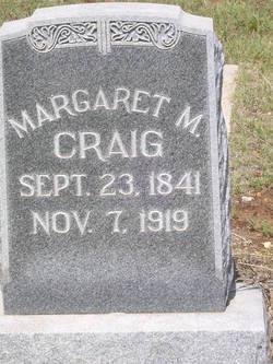 Margaret M <i>Newman</i> Craig