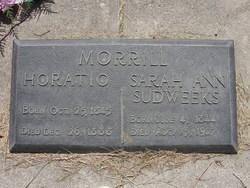 Sarah Ann <i>Sudweeks</i> Morrill