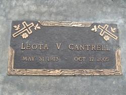Leota V <i>Anderson</i> Cantrell