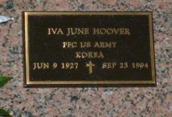 Iva June <i>Oelschlager</i> Hoover