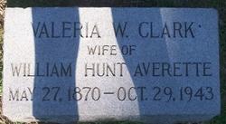 Valeria W <i>Clark</i> Averette