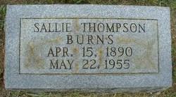 Sallie <i>Thompson</i> Burns
