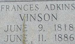 Frances <i>Adkins</i> Vinson