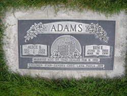 Alice <i>Burnett</i> Adams