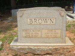 Rebecca Roberta <i>McComb</i> Brown