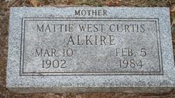 Mattie Mae <i>West</i> Alkire