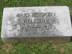 Mary <i>Hardesty</i> Alloway