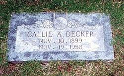 Callie Alberta <i>Wade</i> Decker