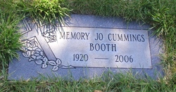 Memory Jo <i>Malone Cummings</i> Booth