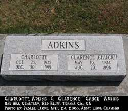 Clarence Vincent Chuck Adkins