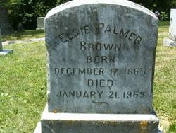 Elsie <i>Palmer</i> Brown