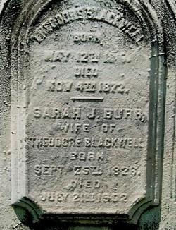 Sarah J <i>Burr</i> Blackwell
