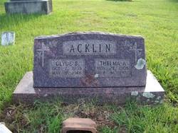 Thelma Audrey <i>Grisham</i> Acklin