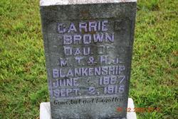 Carrie E. <i>Blankenship</i> Brown