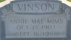 Annie Mae <i>Tippett</i> Vinson