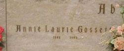 Annie Laurie <i>Gossett</i> Abbott