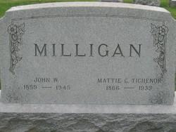 Mattie Cordelia <i>Tichenor</i> Milligan