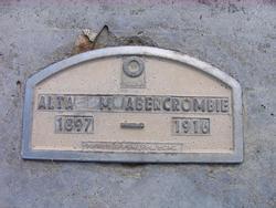 Alta Mae <i>Ames</i> Abercrombie