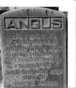 Betsey Hislop <i>Archibald</i> Angus