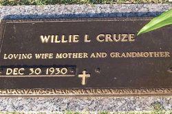 Willie Lee <i>McEntire</i> Cruze