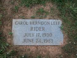 Carol Herndon <i>Leef</i> Rider