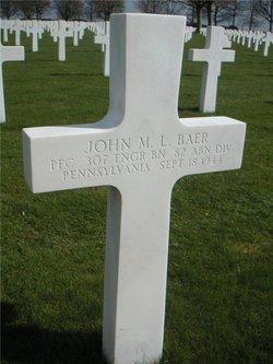 PFC John M L Baer