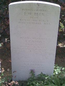 Flying Officer (Pilot) Leslie William Beer