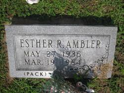 Esther R. <i>Pack</i> Ambler