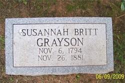 Susannah <i>Britt</i> Grayson