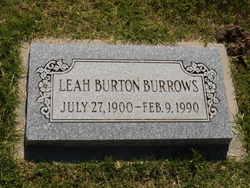 Leah <i>Burton</i> Burrows