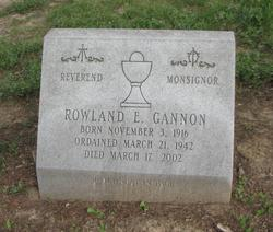 Rev Rowland E. Gannon