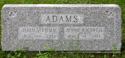 Jennie A <i>Rockwell</i> Adams