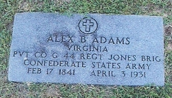 Pvt Alexander Bruce Adams