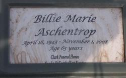 Billie Marie <i>Moore</i> Aschentrop