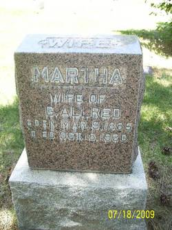 Martha <i>Richards</i> Allred