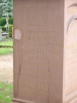 Anna Maria <i>Spahn</i> Hoefel