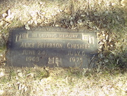 Alice <i>Peterson</i> Cheshier