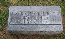 Bessie <i>Rubenstein</i> Balkin