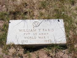 Pvt William Tecumseh Faris