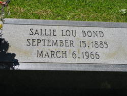 Sallie Lou Bond