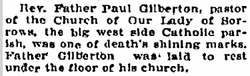 Rev Paul Gilberton