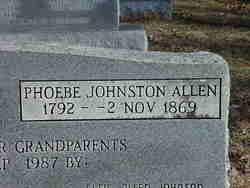 Phoebe <i>Johnston</i> Allen